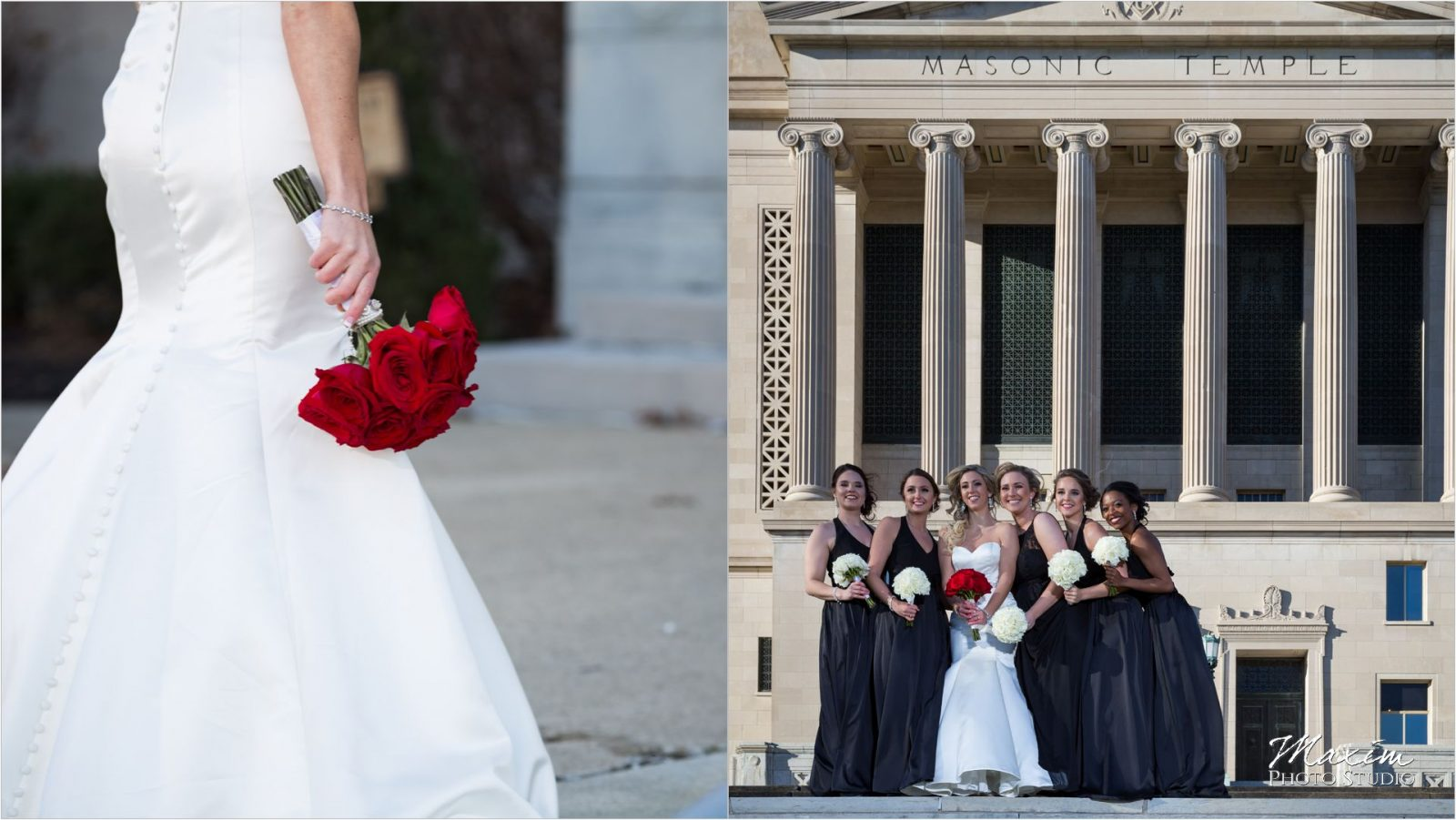 Dayton Masonic Temple Bride portraits