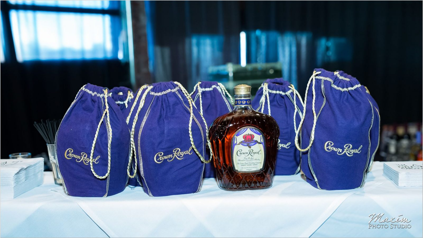 Top of the Market Dayton OH wedding reception Crown Royal