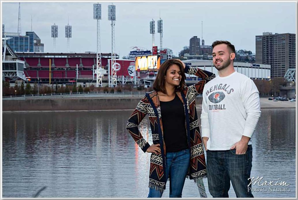 Cincinnati Wedding Photographers Cincinnati Bengals engagement