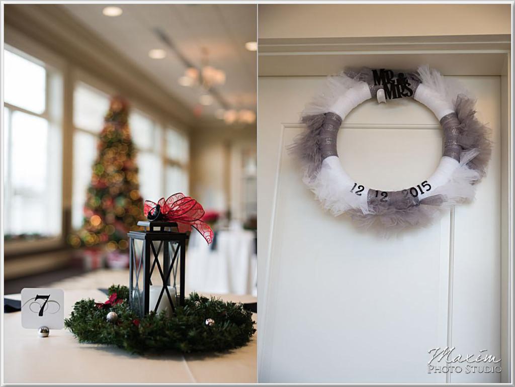 Christmas Cooper Creek Wedding ceremony