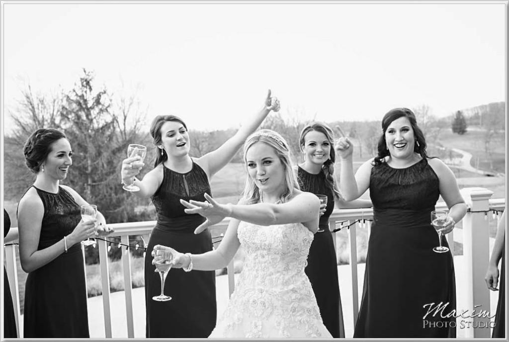 Cooper Creek Event Center Deck Wedding Photos