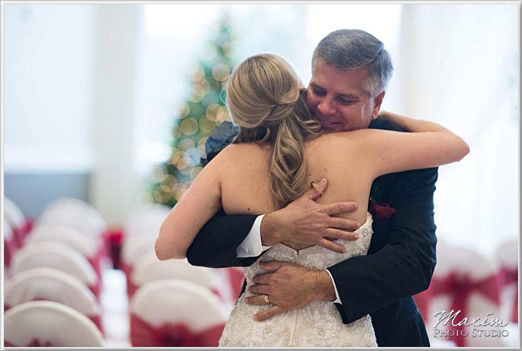 Cooper Creek Event Center Wedding Bride Dad