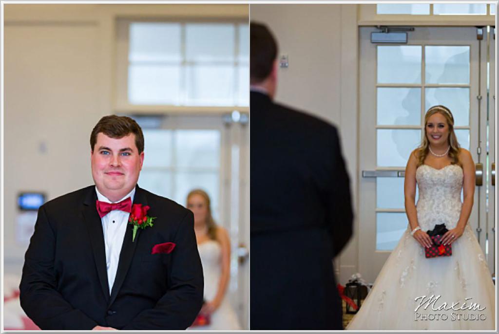 Cooper Creek Event Center Wedding First Look