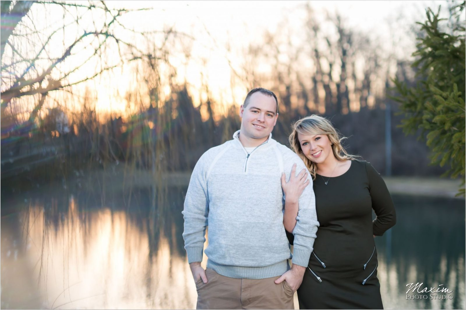 Dayton Wedding Photographers Faurot Park Sunset engagement