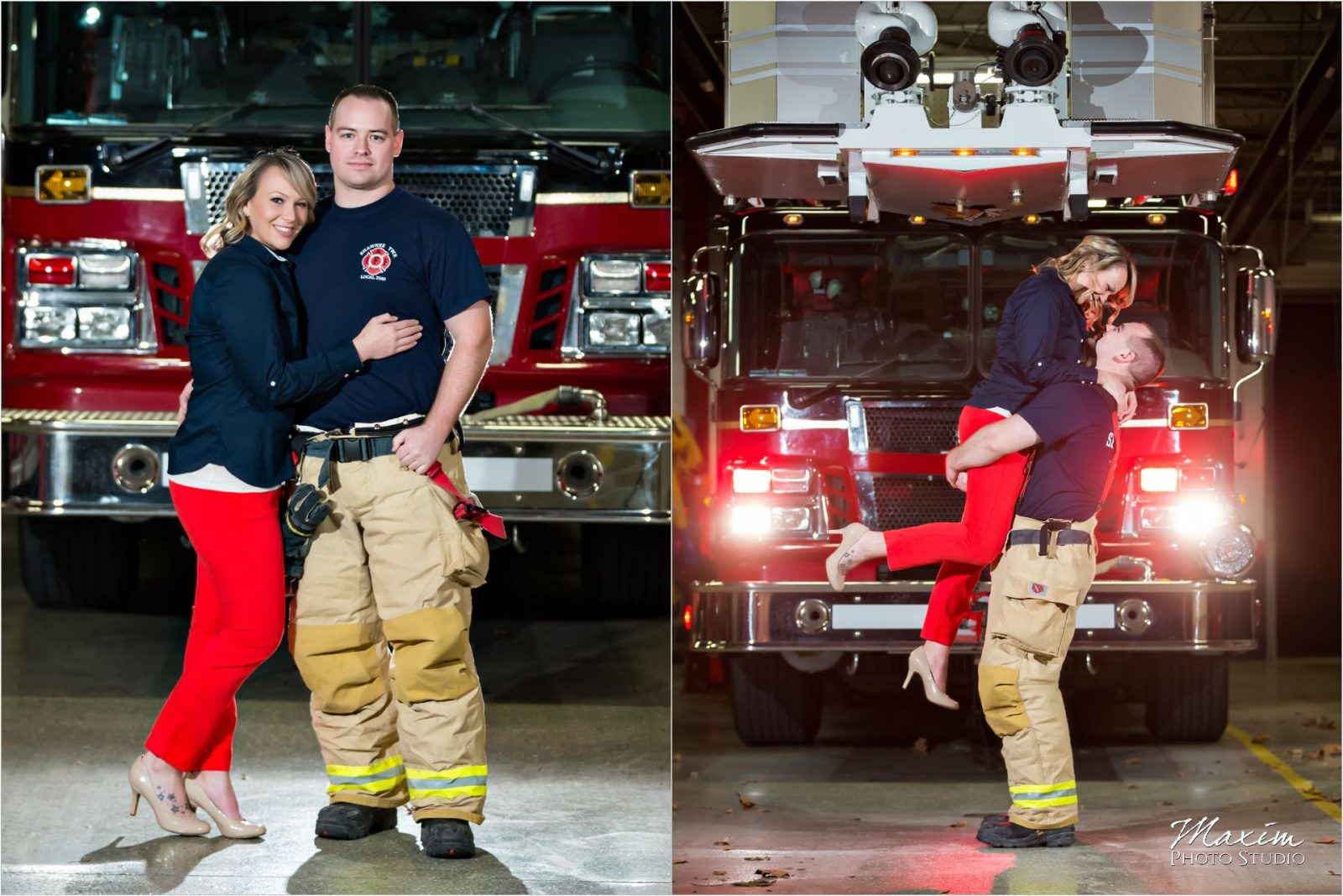 Dayton Wedding Photographers Shawnee Fire Department Engagement