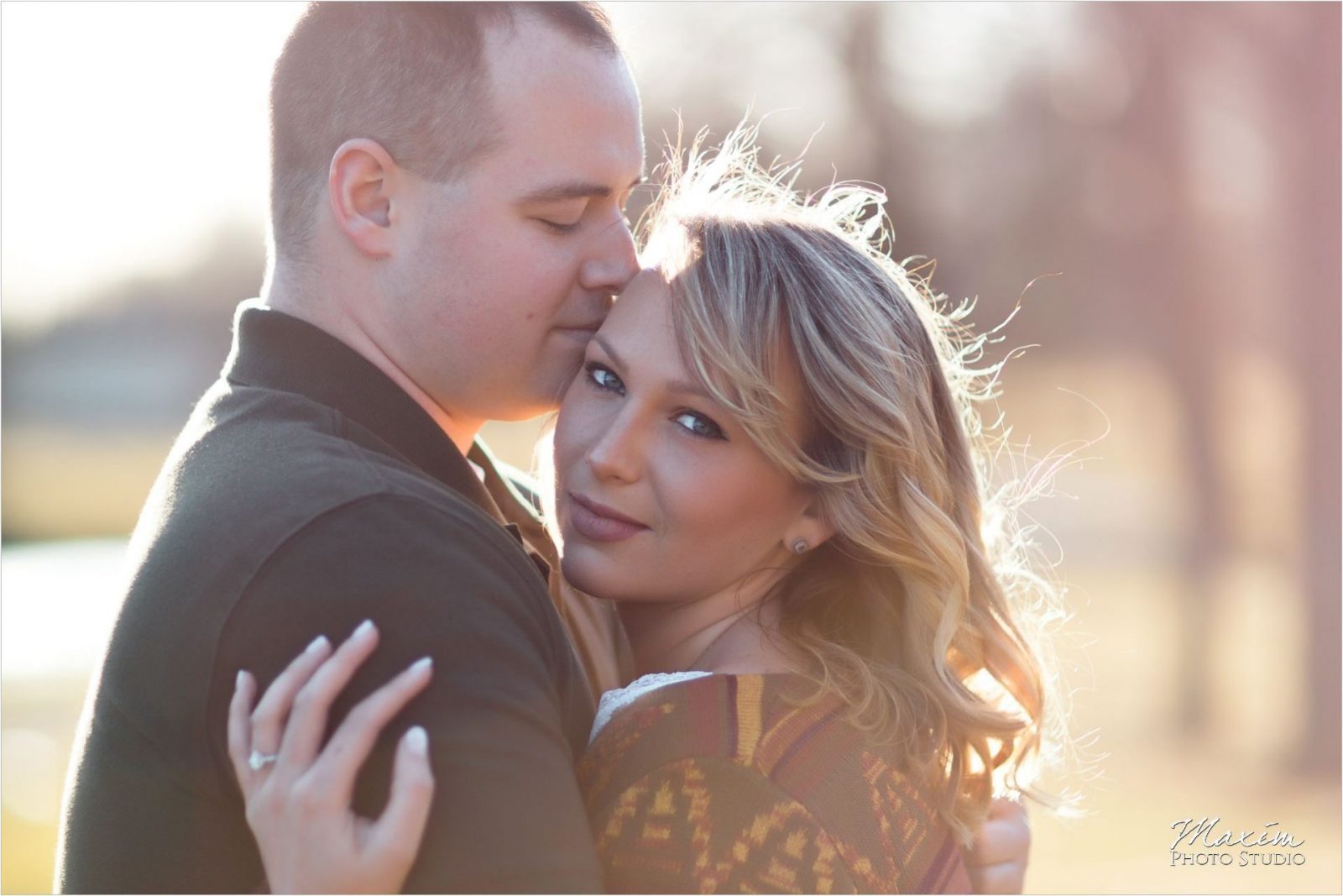 Dayton Ohio Engagement Faurot Park Sunset Engagement