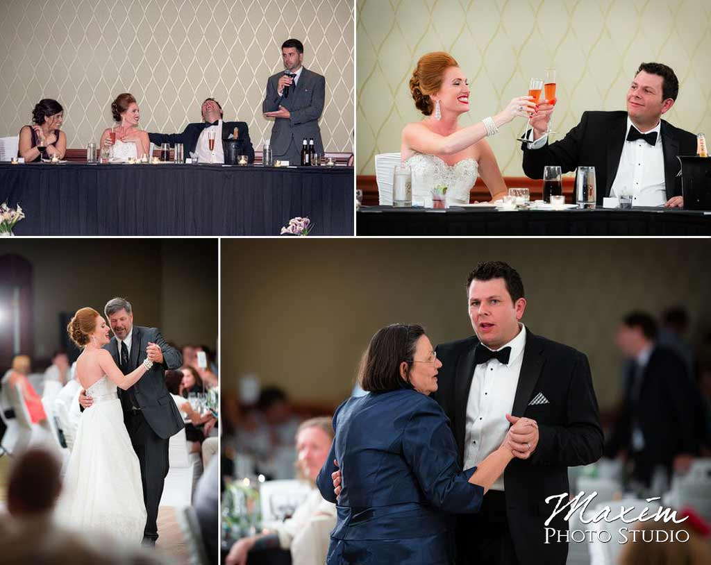 Toasts Marriott Rivercenter Wedding