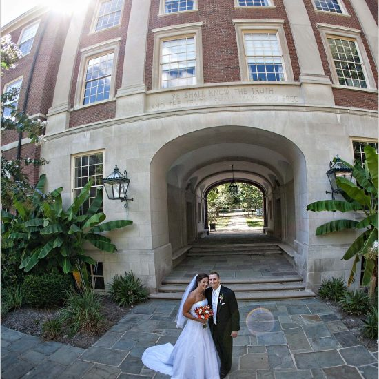 Upham Arch Oxford Ohio bride groom