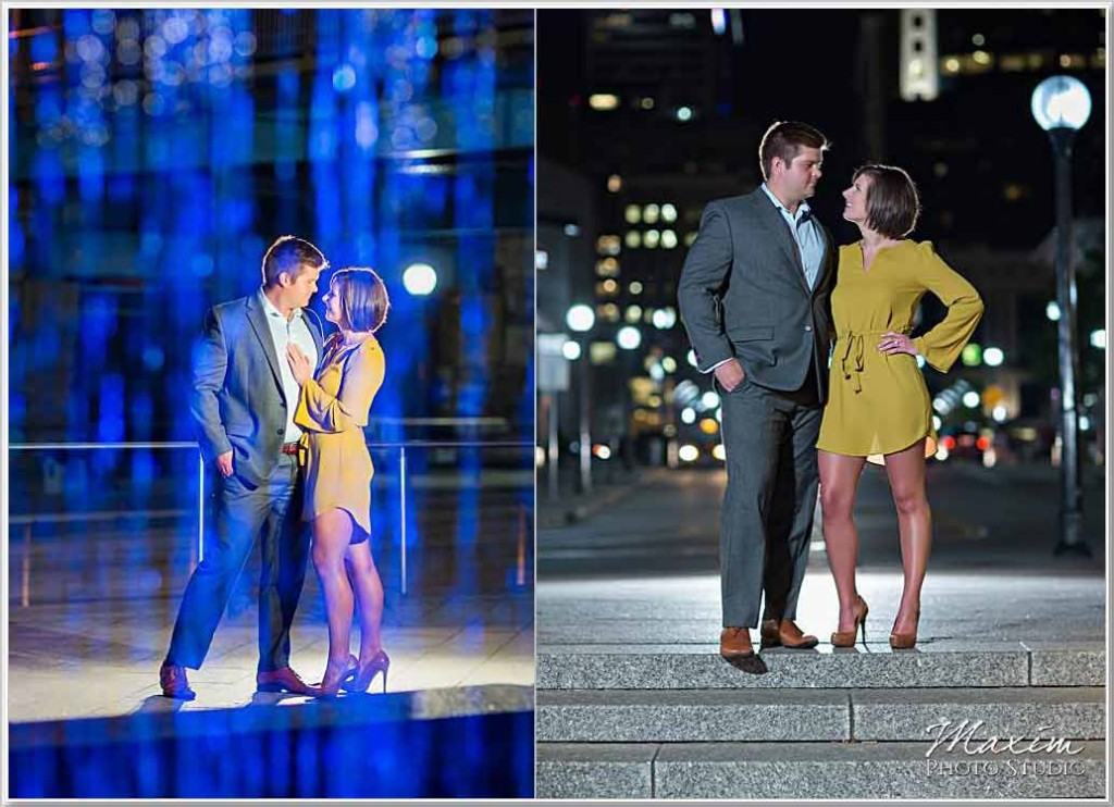 The Banks Cincinnati Night engagement