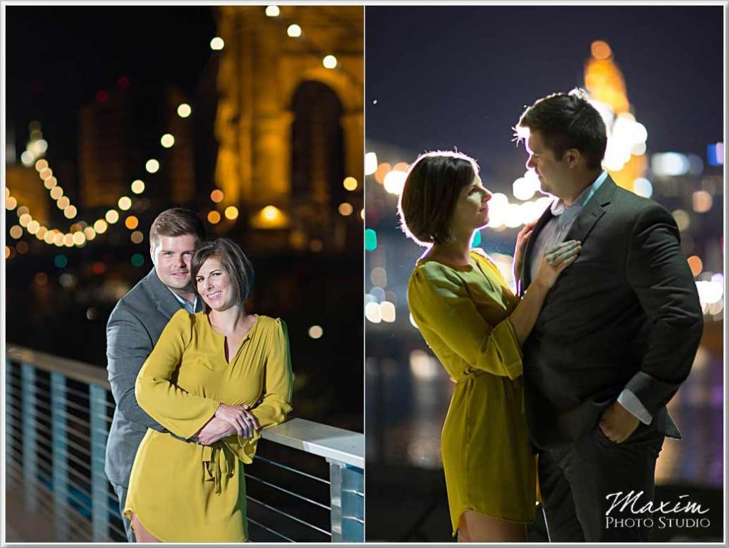Smale Rivefrtont Park Cincinnati night engagement