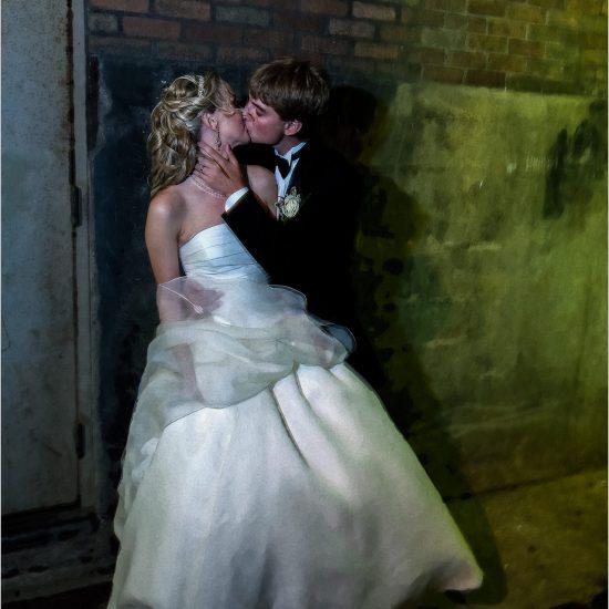 The Phoenix Cincinnati grunge alley wedding