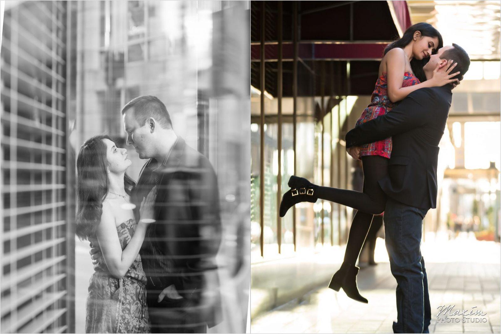 Cincinnati Wedding Photographers Fountain Square Engagement