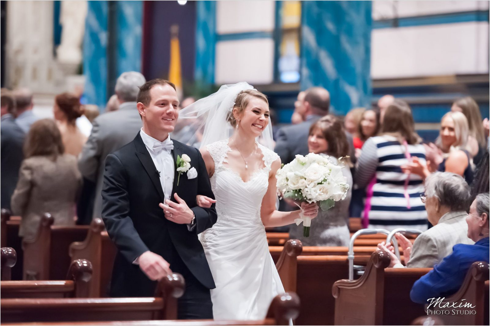 St Xavier Church Cincinnati Wedding Ceremony