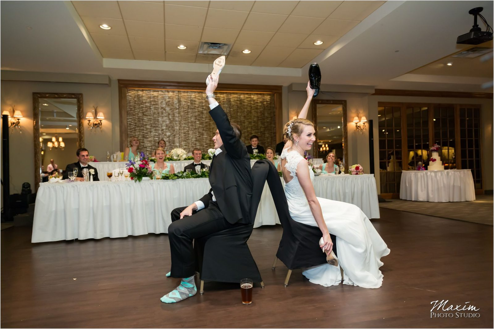 Madison Event Center Covington Kentucky Wedding Reception Shoelywed Game
