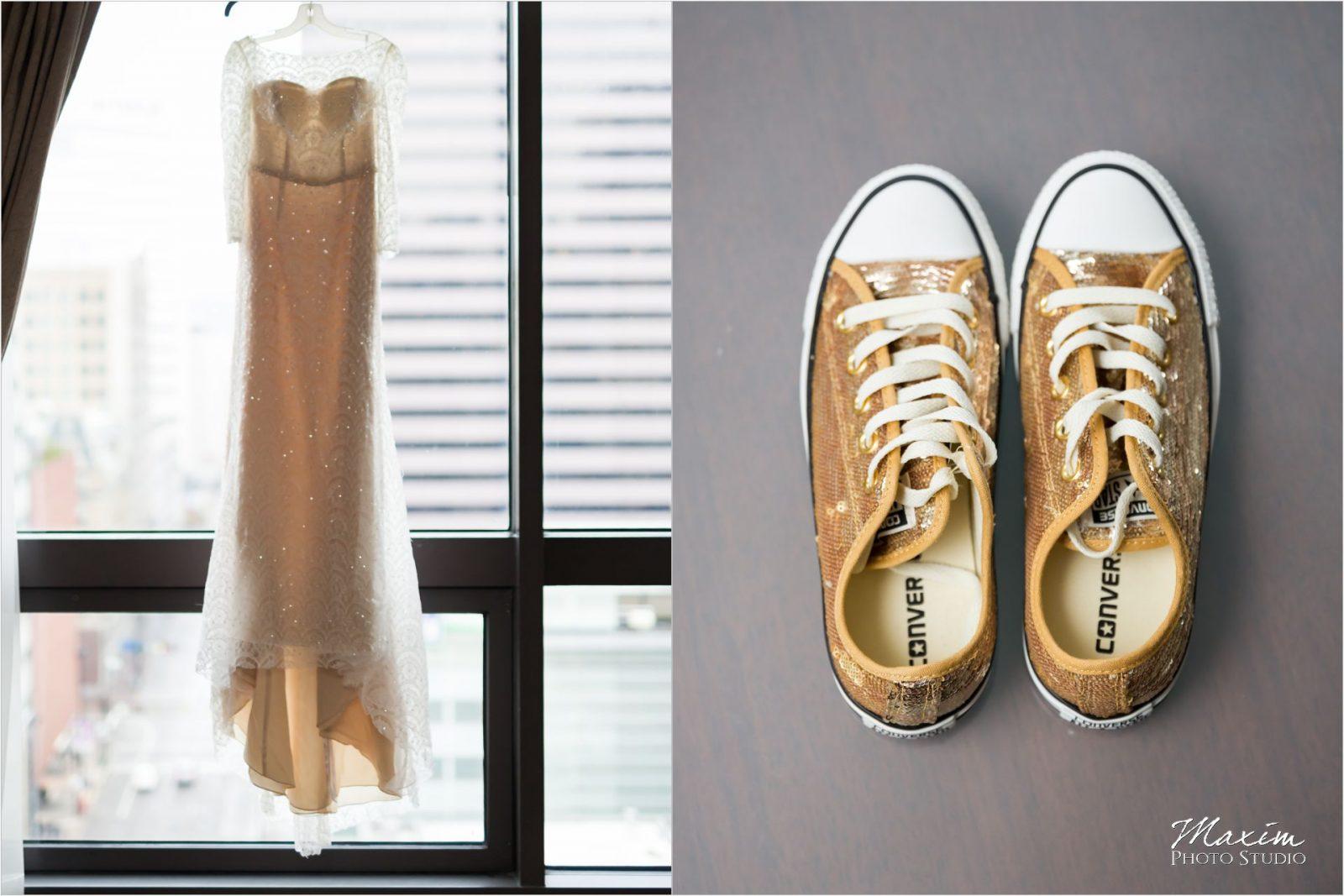 Contemporary Art Center Cincinnati Wedding shoes Chuck Taylors