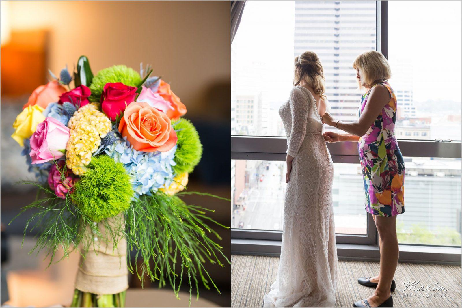 Contemporary Art Center Cincinnati Wedding Preparations