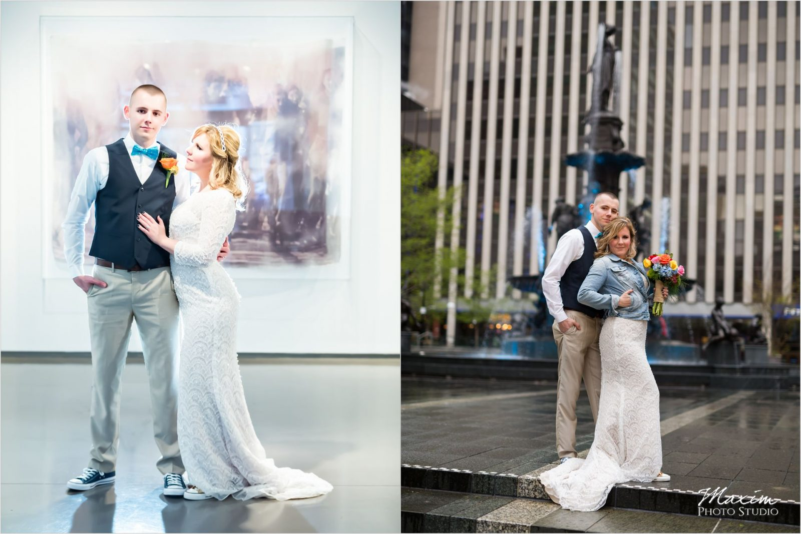 21C Museum Hotel bride Cincinnati Wedding