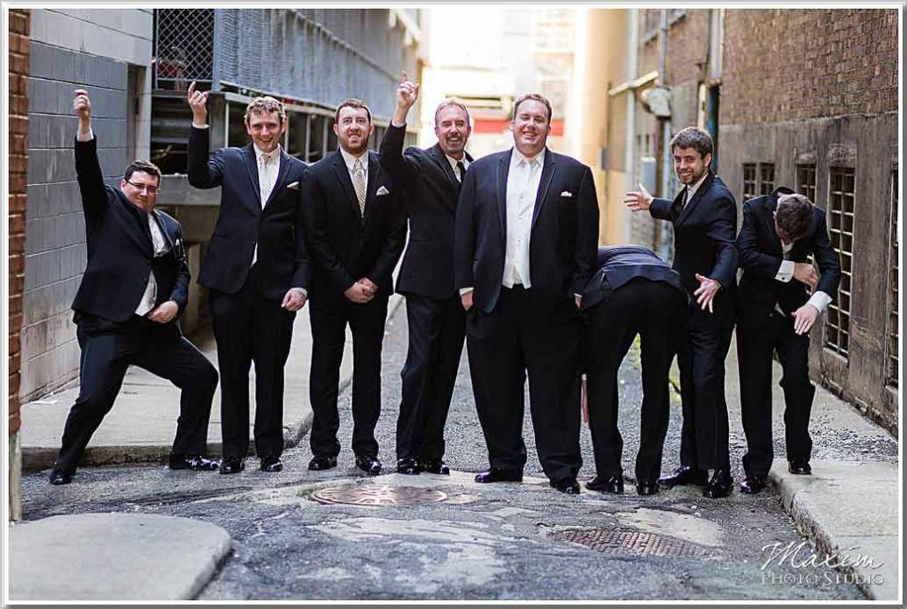 Fountain Square Cincinnati Groomsmen