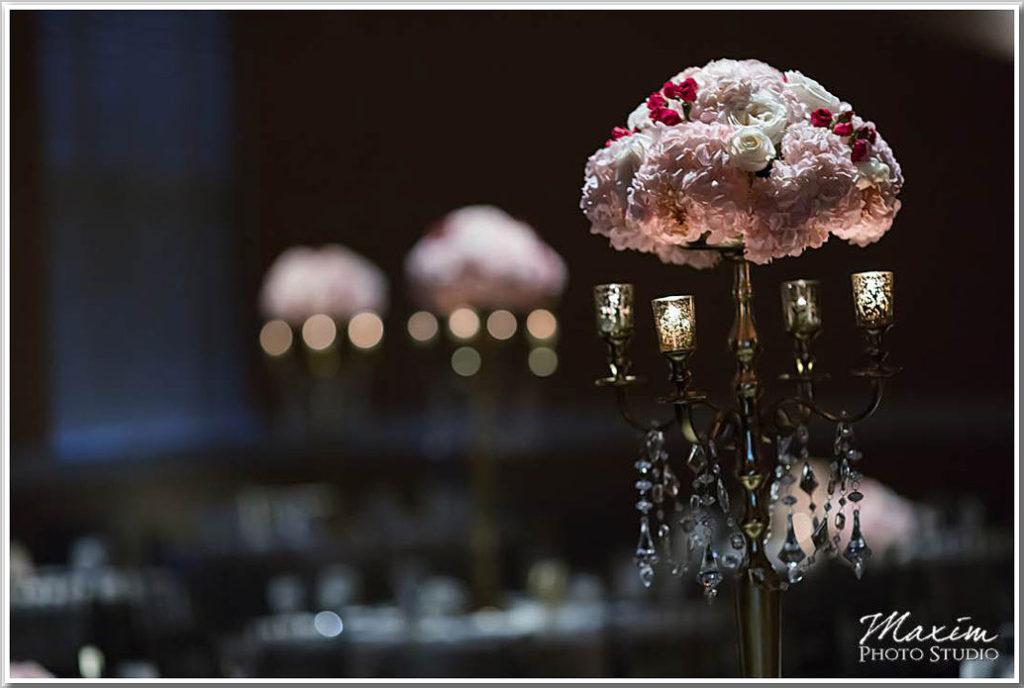 The Phoenix Cincinnati Wedding Table Centerpieces