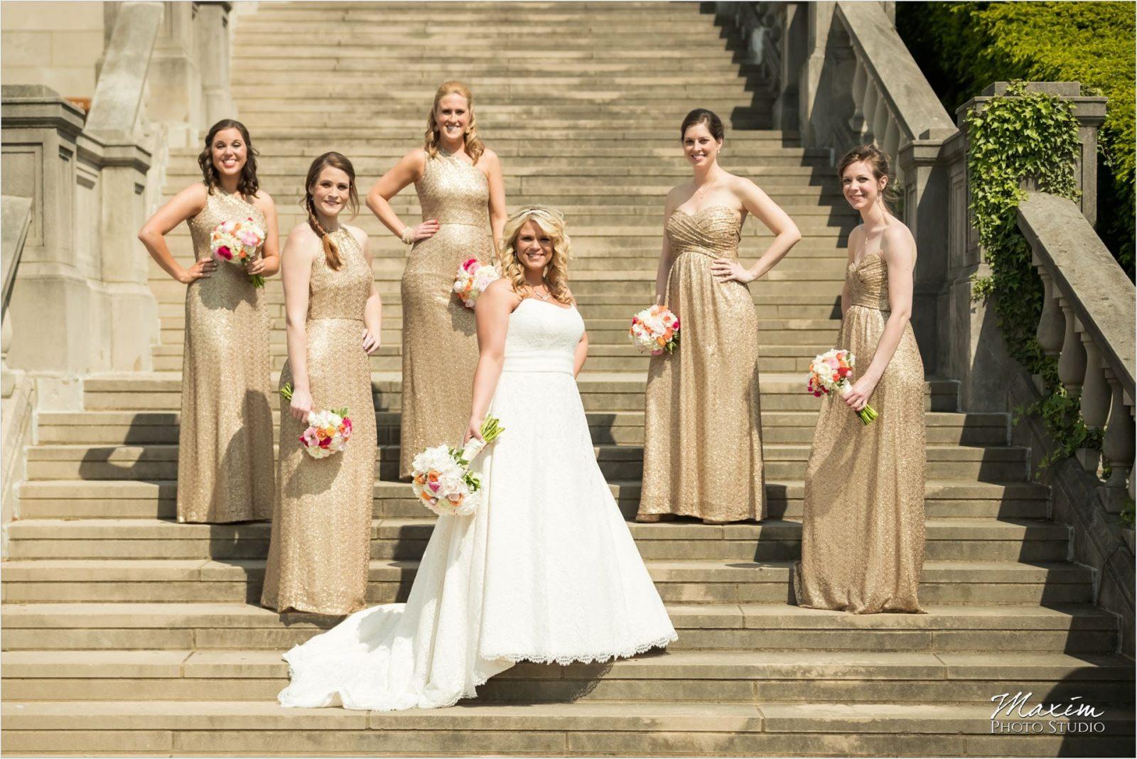 Ault Park Cincinnati Wedding Bridesmaids