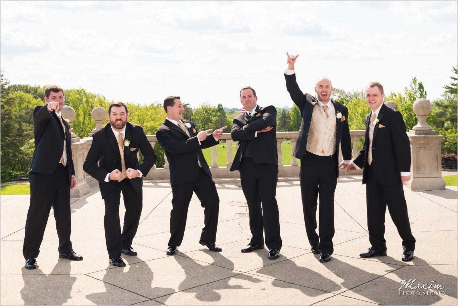 Ault Park Cincinnati Wedding Groomsmen