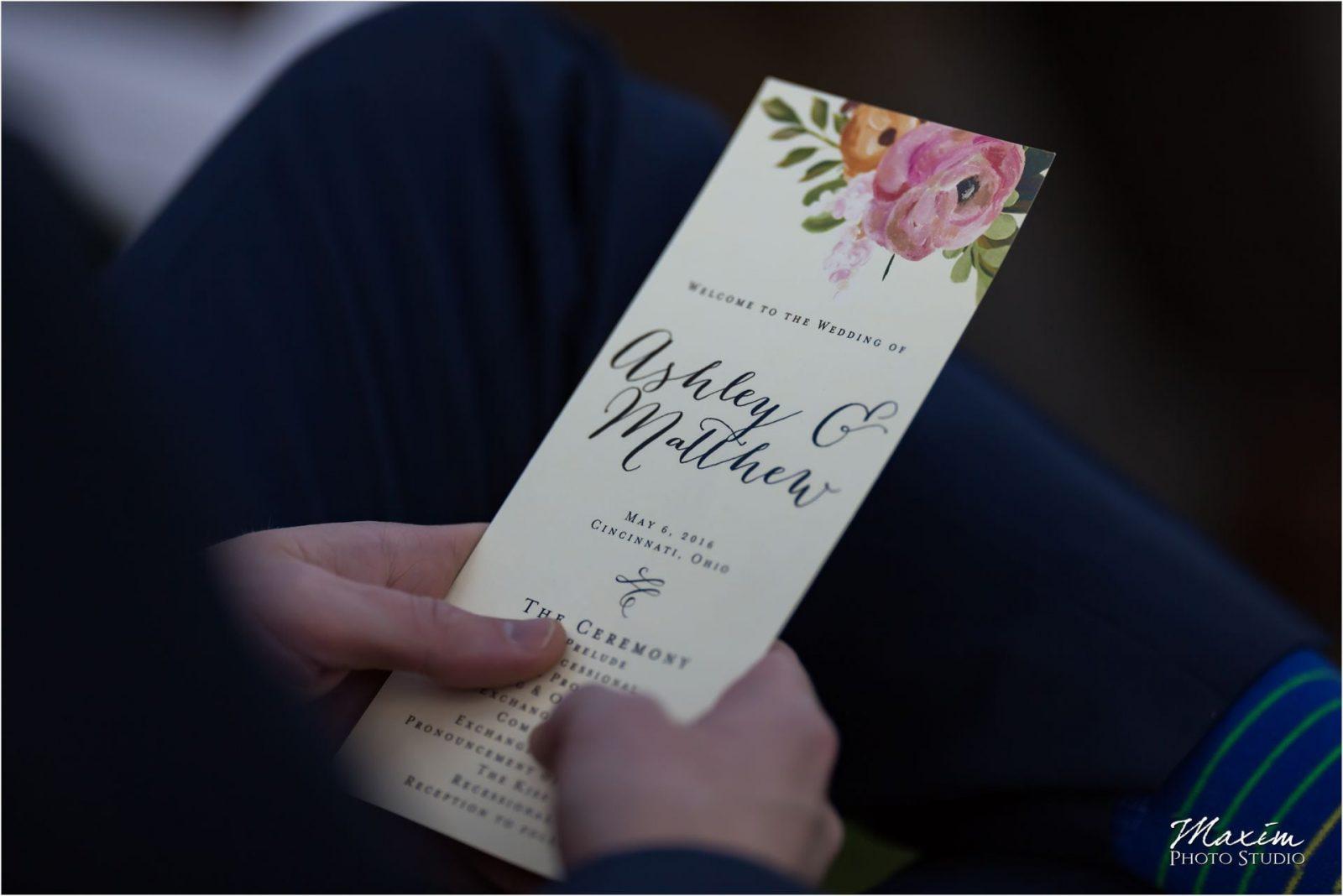 Ault Park Cincinnati Wedding Ceremony