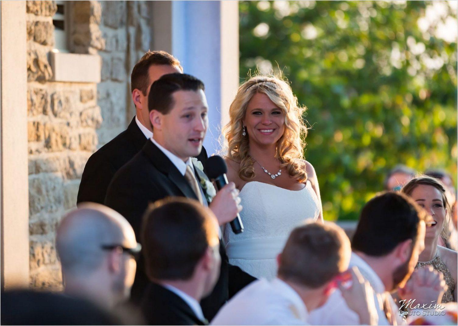 Ault Park Cincinnati Wedding Reception Toasts