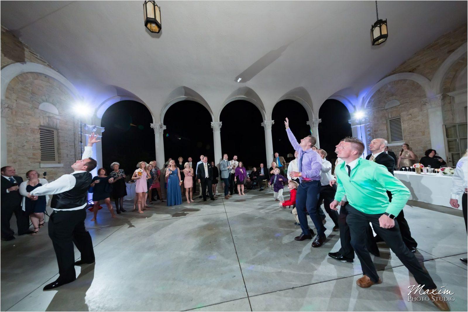 Ault Park Cincinnati Wedding Reception Garter