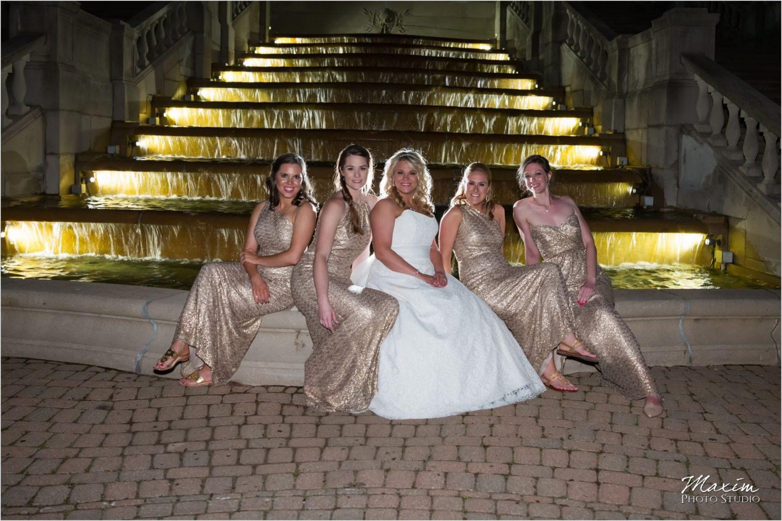 Ault Park Cincinnati Wedding Reception Bridesmaids