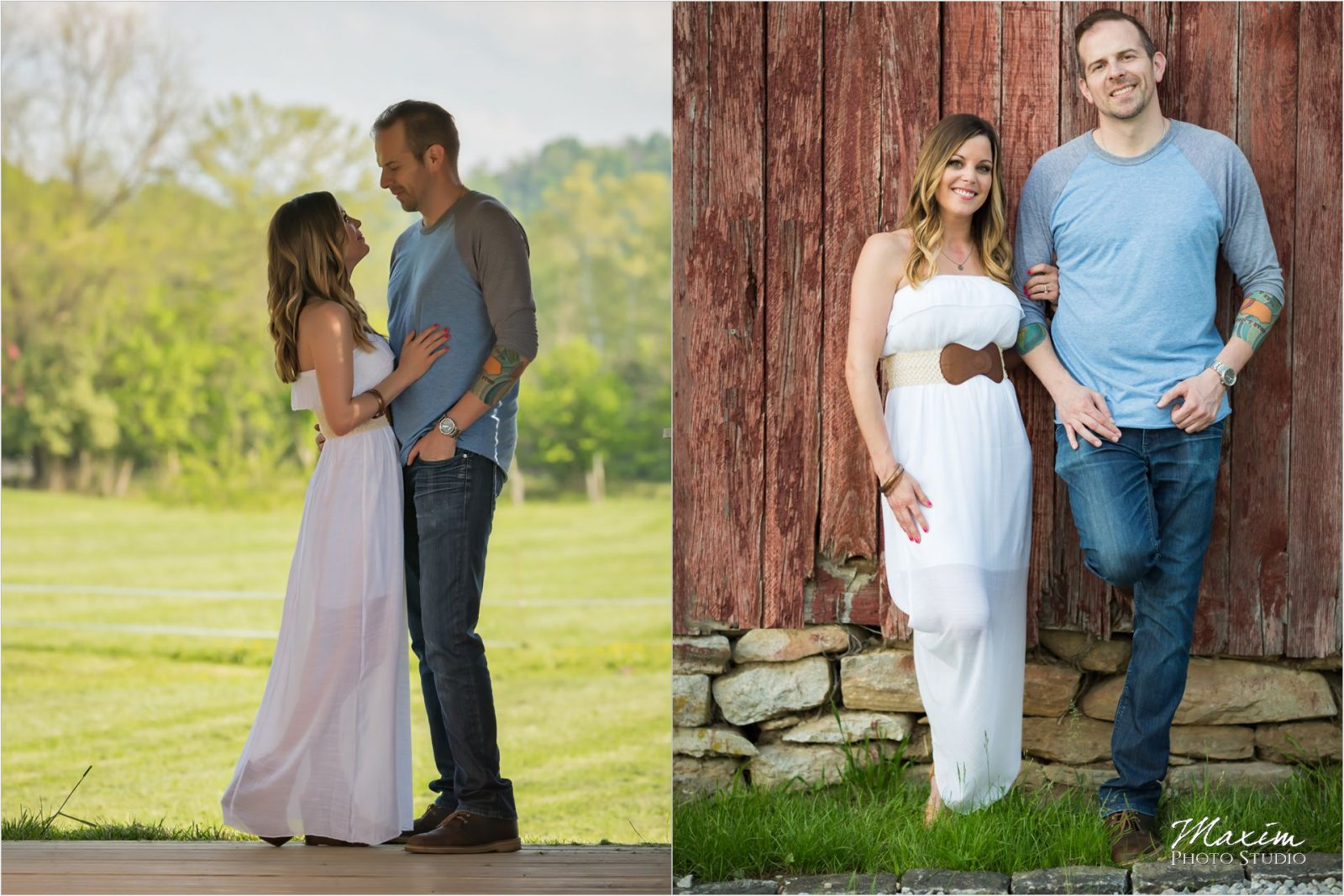 Cincinnati Wedding Photographers Kentucky Farm Engagement
