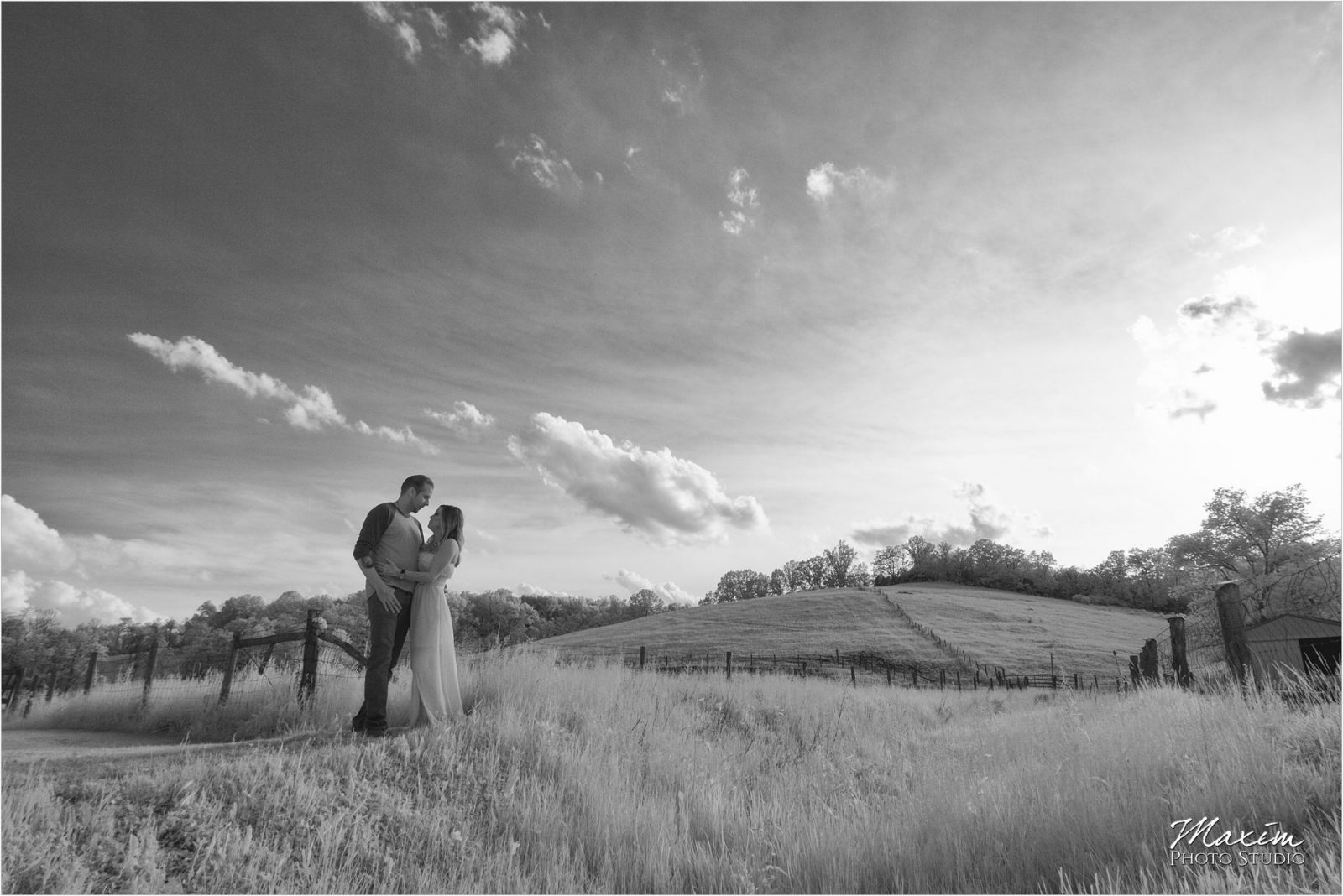 Cincinnati Wedding Photographers Kentucky Farm Infrared Engagement