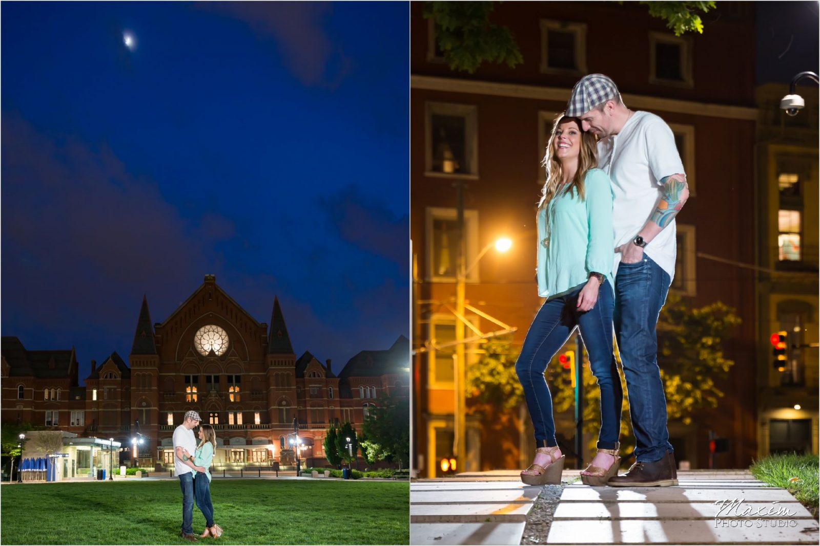 Cincinnati Wedding Photographers Washington Park Music Hall engagement