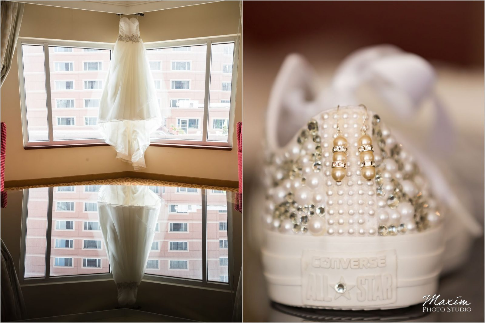 Marriott Rivercenter Covington Kentucky Wedding Preparations dress