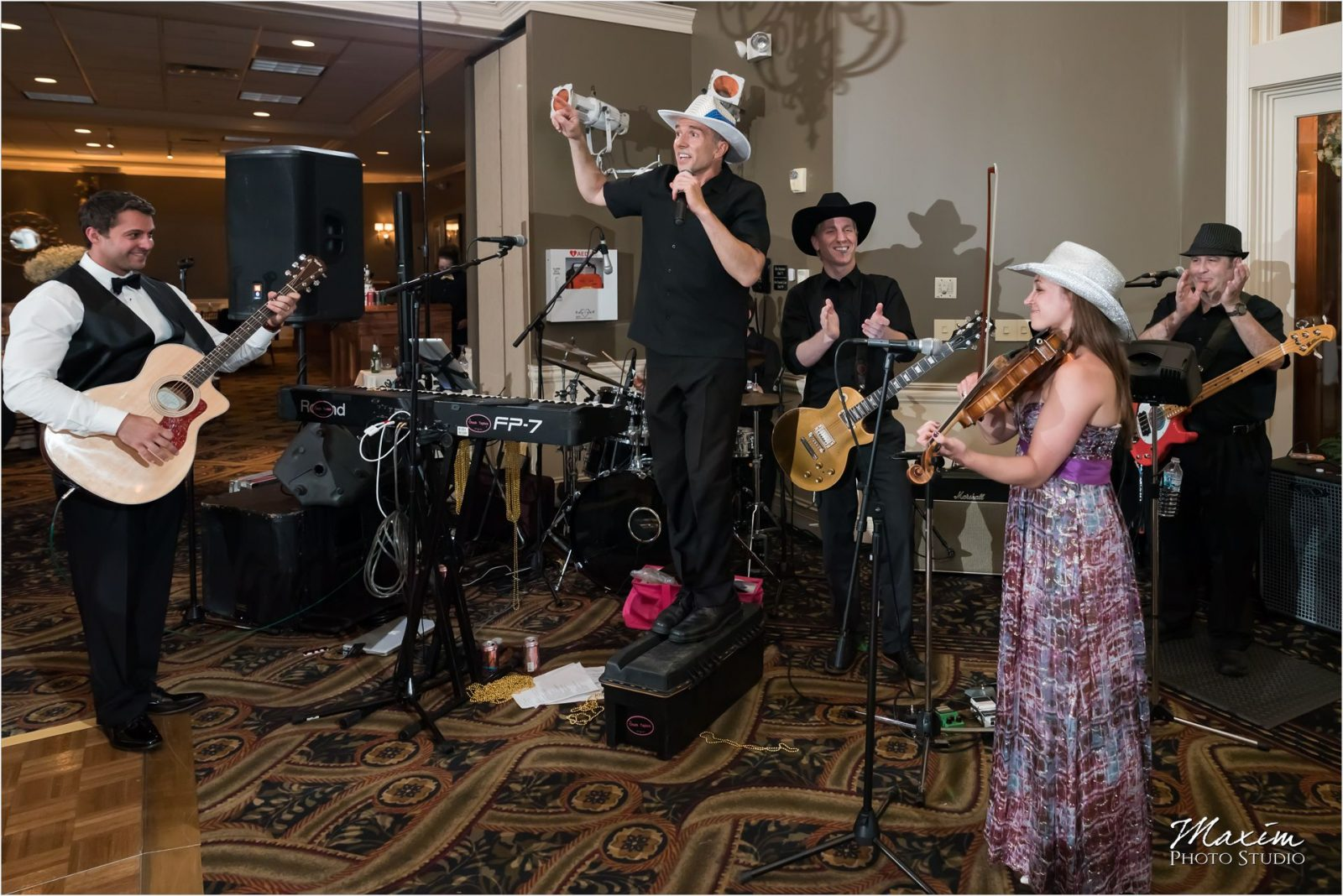 Chuck Taylors Drees Pavilion Wedding Reception Band