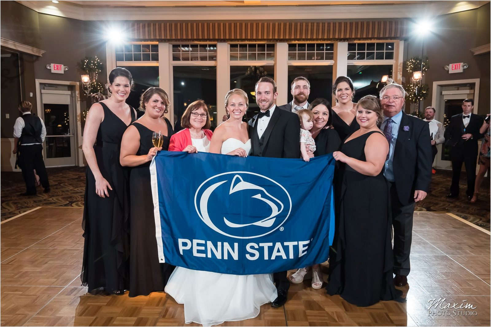 Drees Pavilion Penn State Alumni guests Wedding Reception