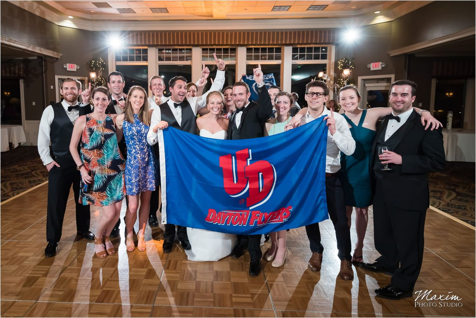 Drees Pavilion University of Dayton Alumni guests Wedding Reception