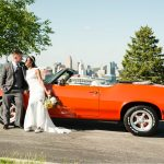 Drees Pavilion muscle car wedding cincinnati overlook