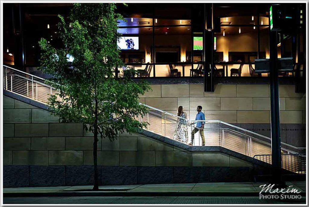 Smale Nighttime Cincinnati Engagement