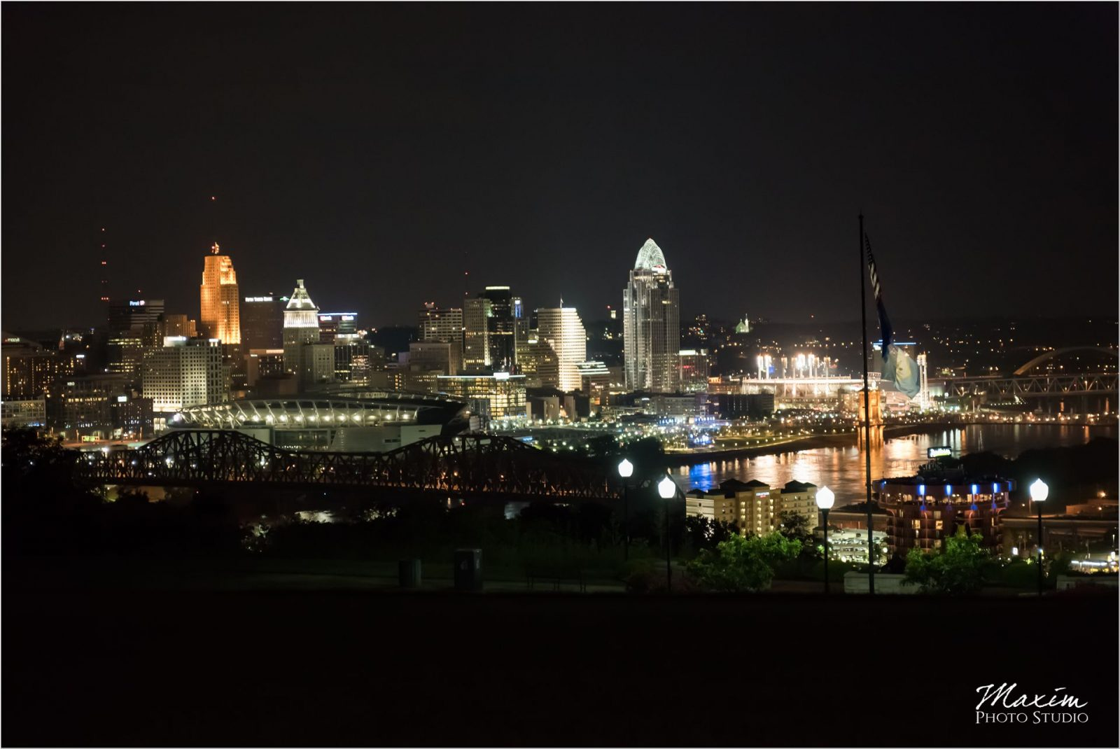 Drees Pavilion Wedding Reception Cincinnati Skyline