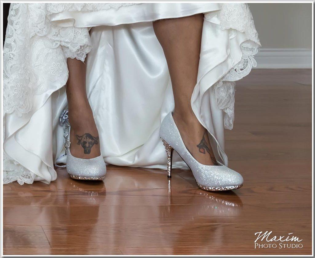 Bride shoes Drees Pavilion wedding