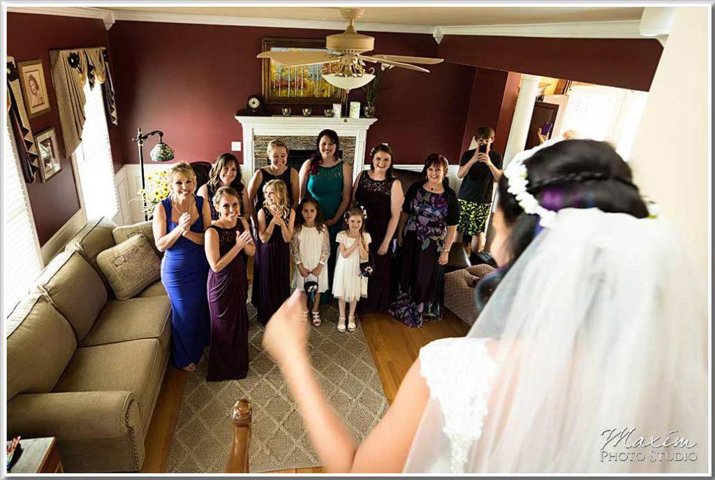 Bride reveal for family