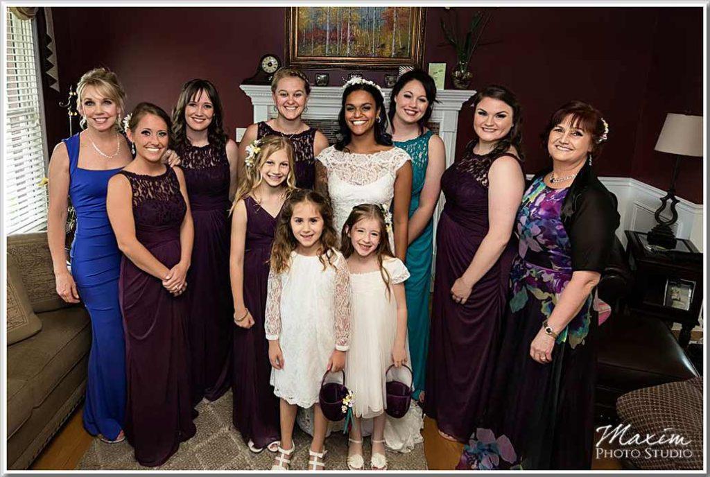 Drees pavilion bridesmaids portrait