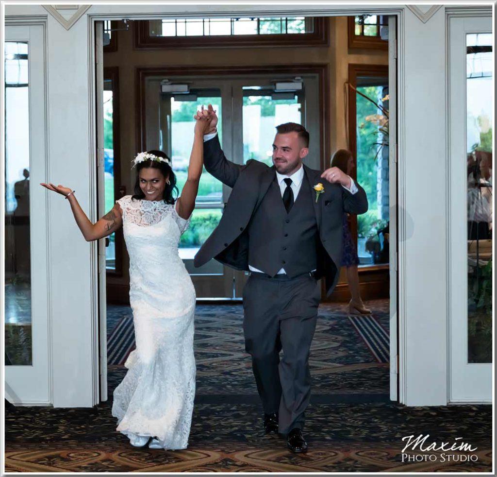 Wedding reception entrance Drees Pavilion
