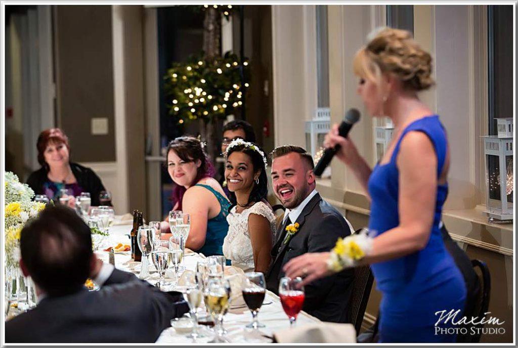 Drees Pavilion Wedding reception toasts