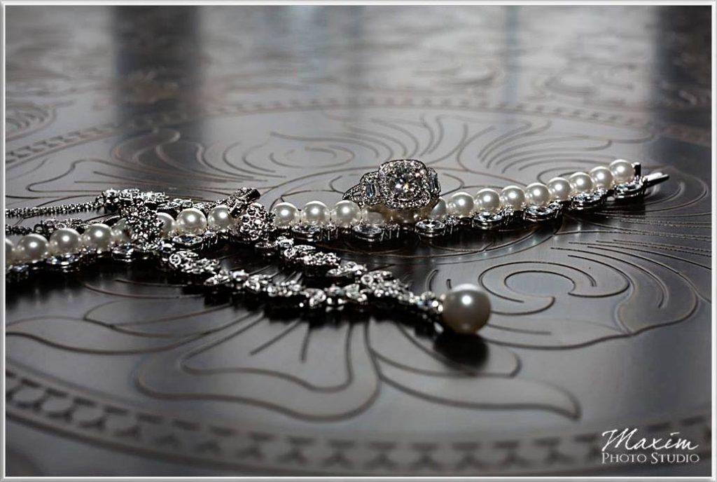 Four Bridges Country Club wedding jewelry