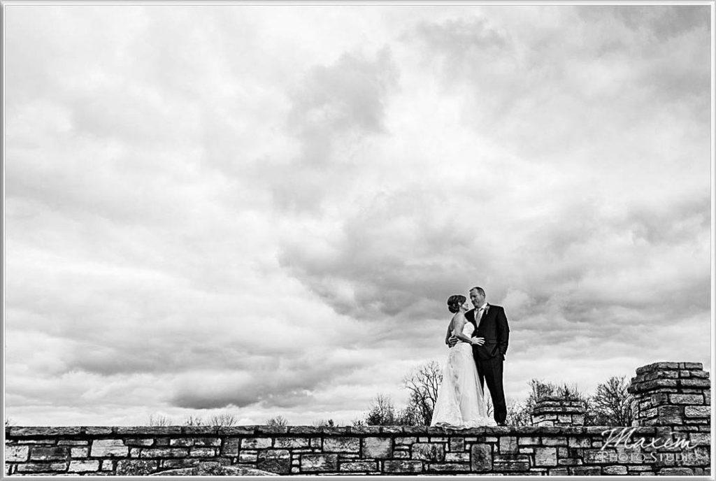 Four Bridges Country Club wedding dramatic sky