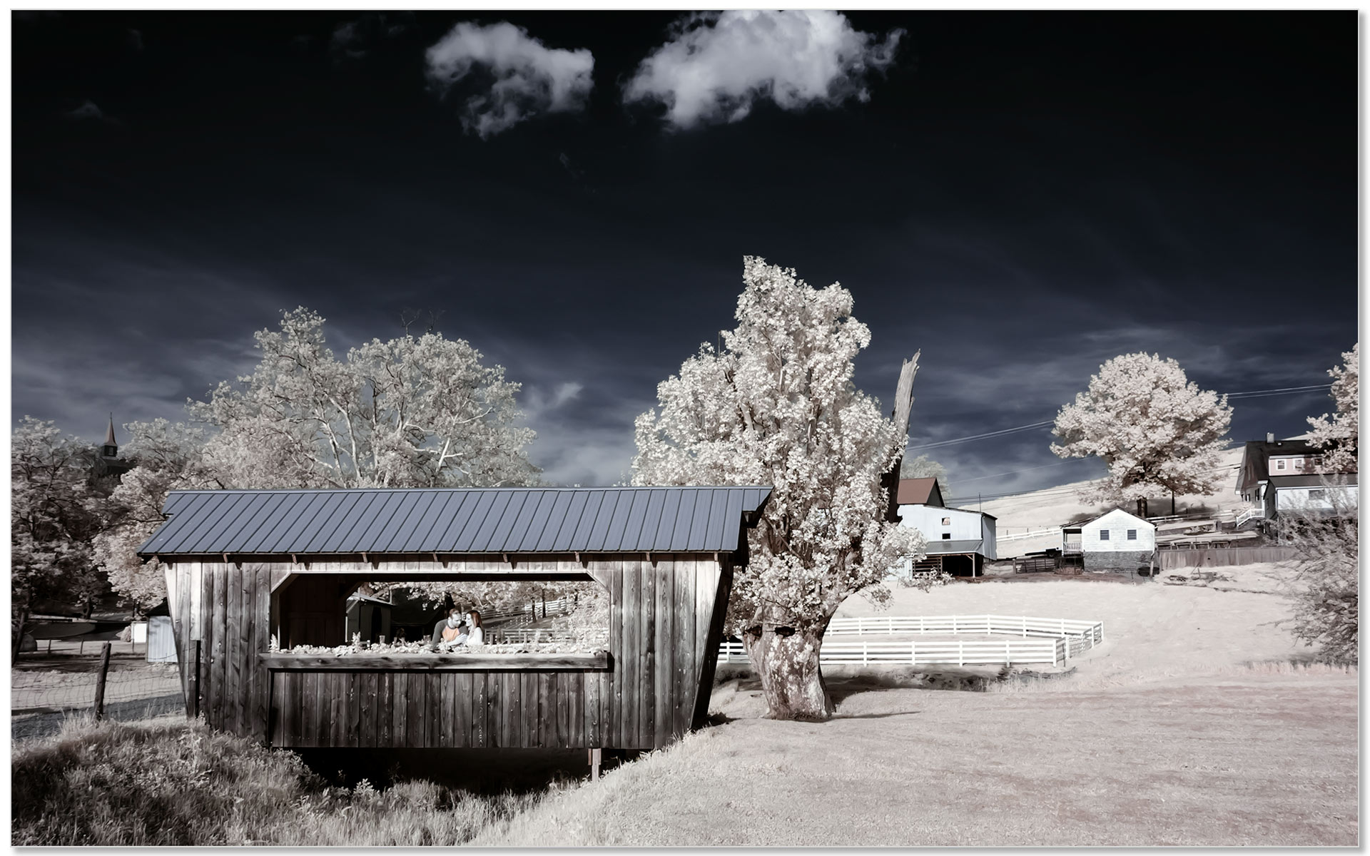 Neltner Farm KY Infrared engagement photography
