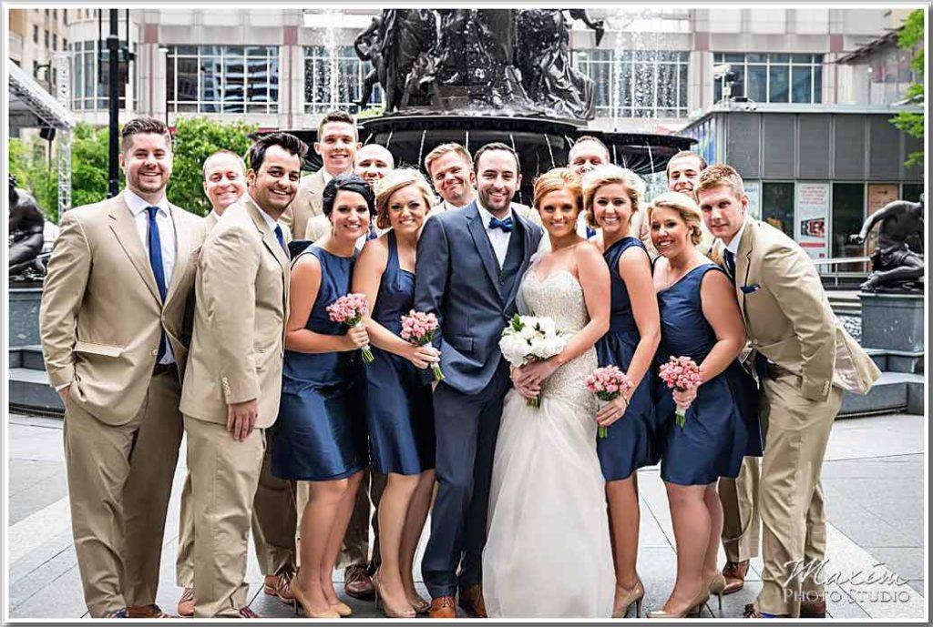 Cincinnati Fountain Square Wedding Picture