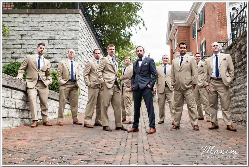 Covington KY The Center Wedding Groom Pictures