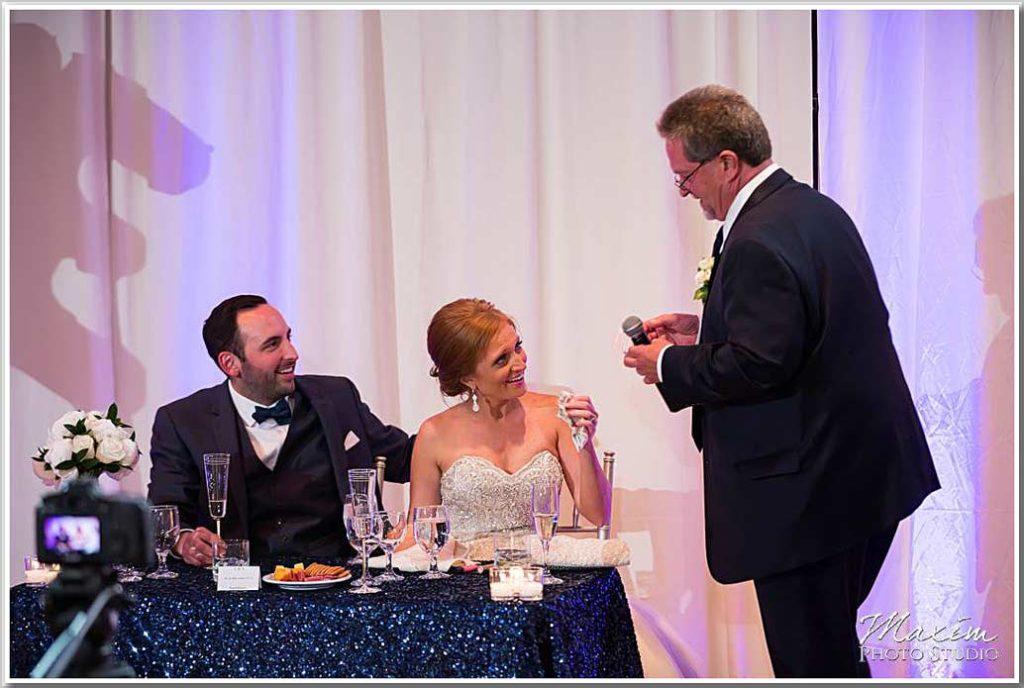 The Center Wedding Reception toasts Cincinnati Ohio
